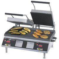 Star CG28IEGT 14 inchx 28 inch Pro-Max Heavy Duty Grooved Top & Smooth Bottom Panini Grill With Electronic Timer