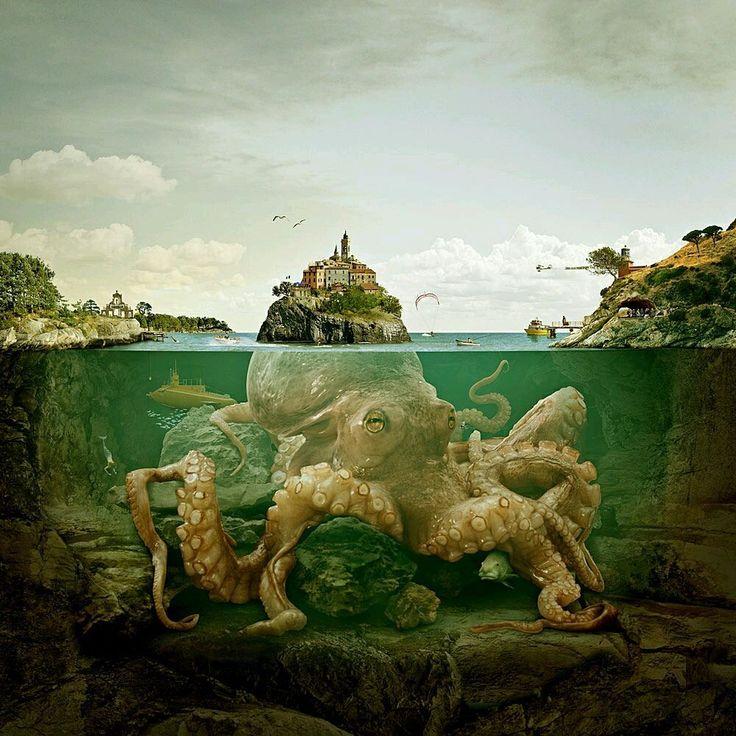 another fastasy octopus island - Paolo De Francesco