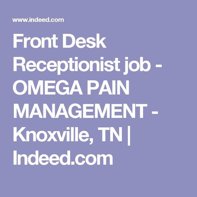Front Desk - Manager / FOM Job Description