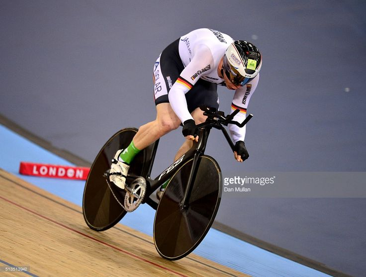 Joachim Eilers of Germany in action on his way to winning the Men's 1km time trail final during Day Two of the UCI Track Cycling World Championships at Lee Valley Velopark Velodrome on March 3, 2016 in London, England. #TWC2016 #rm_112