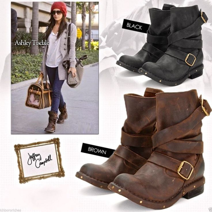 2015 New Fashion Women's Brit Wrap Strap Booties Dark Brown Genuine Leather Motorcycle Boots Buckle Wrap Moto Boots