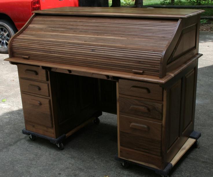 Walnut Roll Top Desk My Creations In 2019 Desk