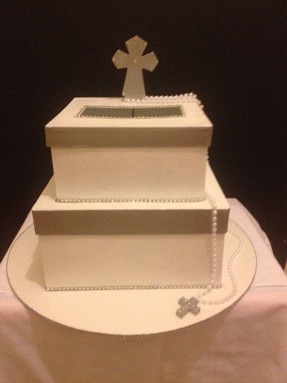 first holy communion card box