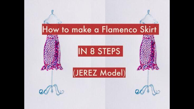 Follow this 8 steps to make a flamenco skirt