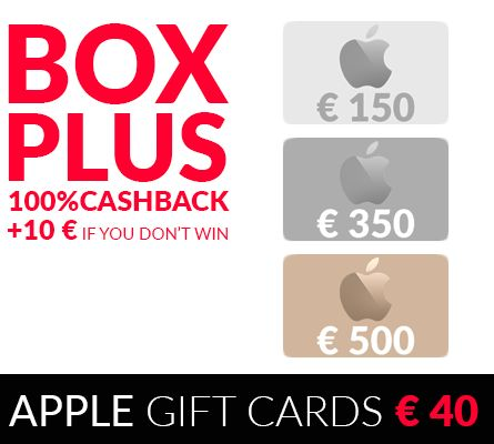 APPLE GIFT CARDS - Buy these Gift Cards for € 25 or get 100%Cashback + € 10!