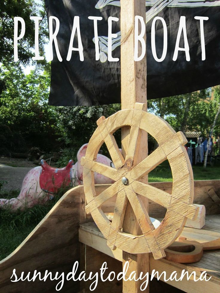 Homemade Pirate Boat for Outdoor Play in the Garden sunnydaytodaymama...