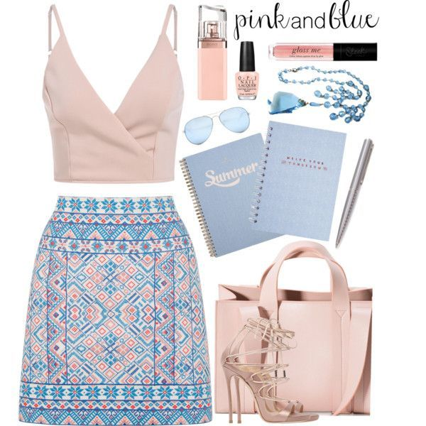 A fashion look from June 2016 featuring Oasis mini skirts, Dsquared2 sandals and Corto Moltedo tote bags. Browse and shop related looks.