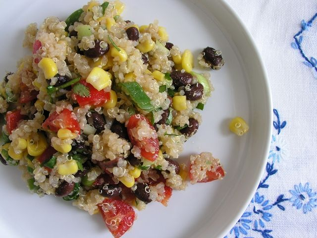 quinoa, corn, and black bean salad | Recipes | Pinterest