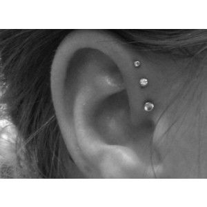 never seen that done there beforeStyle, Piercing Ideas, Beautiful, Ear Piercings, Triple Helix, Tattoo, Triple Forward Helix, Ears Piercing, Helix Piercing