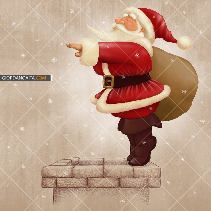 Santa Claus dive in the fireplace - © Giordano Aita - All right reserved     http://it.fotolia.com/p/120313/partner/120313