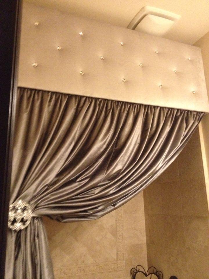 Black Rhinestone Shower Curtain