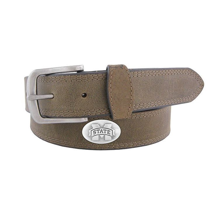 Men's Zep-Pro Mississippi State Bulldogs Concho Crazy Horse Leather Belt, Size: