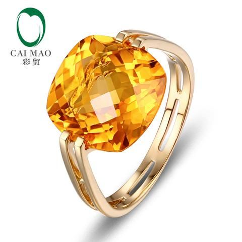 [EBay] Caimao 10Kt/417 Yellow Gold 6.41Ct Natural Citrine Engagement Ring Jewelry