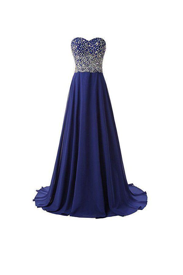 Beautiful A Line Prom Dresses Chiffon Sweetheart Evening