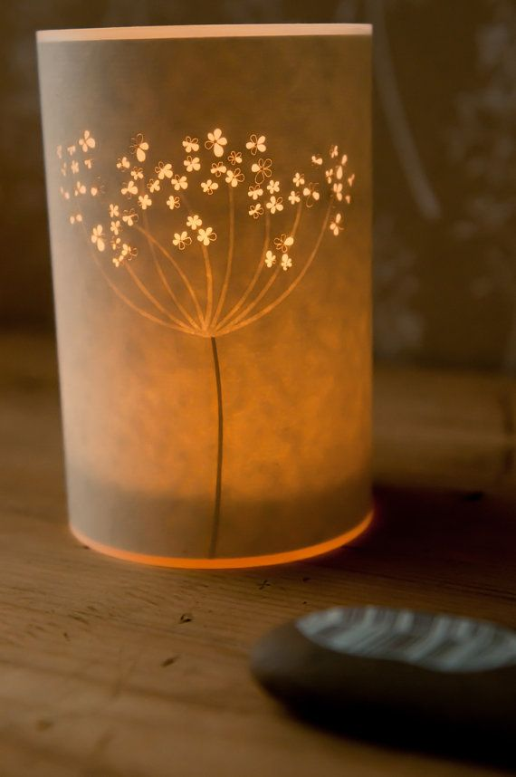 Cow Parsley Candle Cover by Hannahnunn on Etsy,