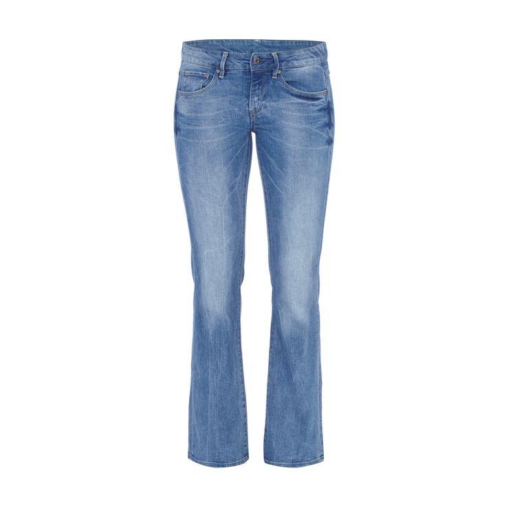 #G-Star #Raw #Bootcut #Jeans #im #Used #Look für #Damen - Damen Jeans von G-Star Raw, Leichter Baumwoll-Mix mit Viskose-Anteil, Weicher leichter Denim, Bootcut, Stone Washed, Used Look, Bund mit Gürtelschlaufen, Zwei Eingrifftaschen und eine Münztasche, Zwei aufgesetzte Gesäßtaschen mit Ziernähten, Label-Patch aus Leder auf der Rückseite, Innenbeinlänge bei Größe 27/32: 74 cm, Bundweite bei Größe 27/32: 76 cm