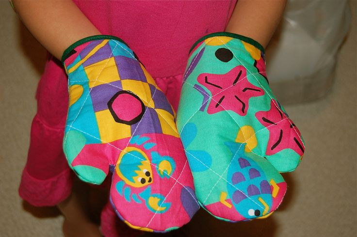 ikat bag: How to Make Kids' Oven Mitts