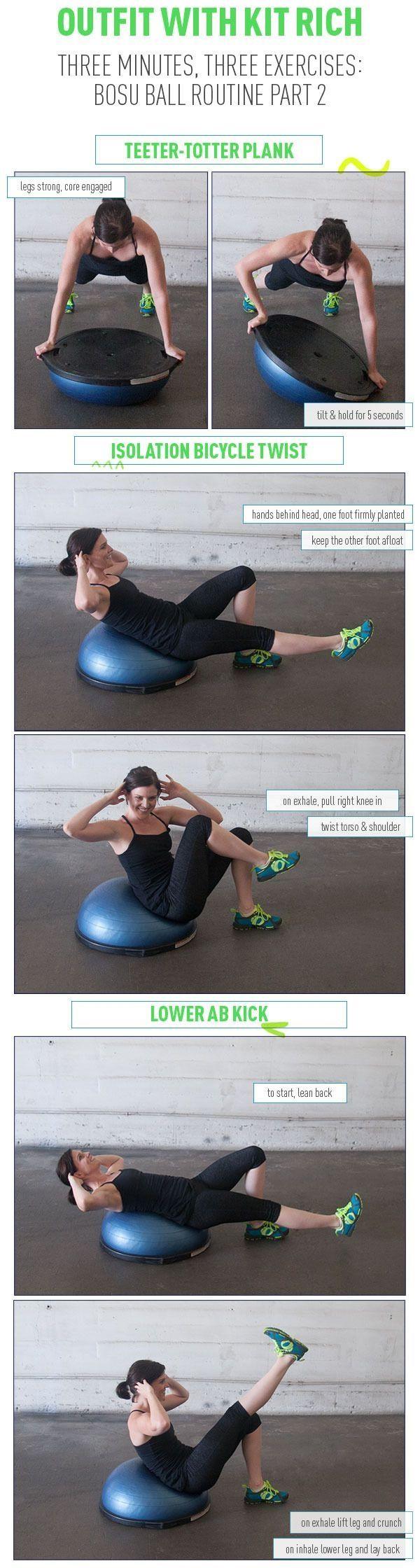 3 Minutes, 3 Bosu Exercises