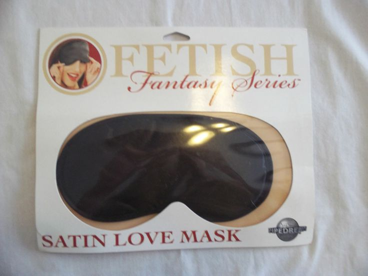 Black Satin Love Mask Blindfold.  Find it  at In the Mood Love Shop, second floor of the Lonsdale  Quay at the sea bus in North Vancouver