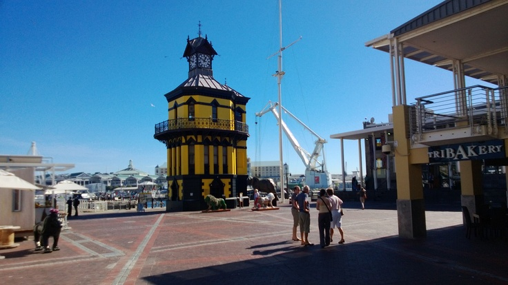 The Clock Tower dressed in Yellow for Design Capital
