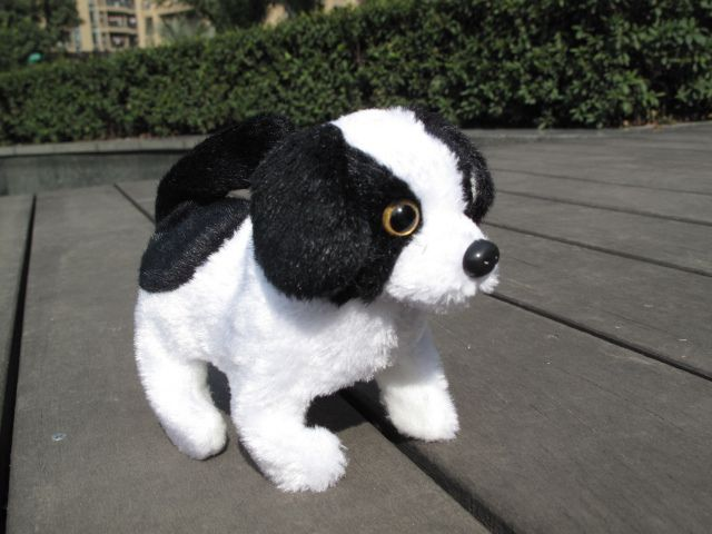 stuffed animal plush toy about 16cm Electric dog barking puppy walking dog wag tail dog doll children's gift k0457 #Affiliate