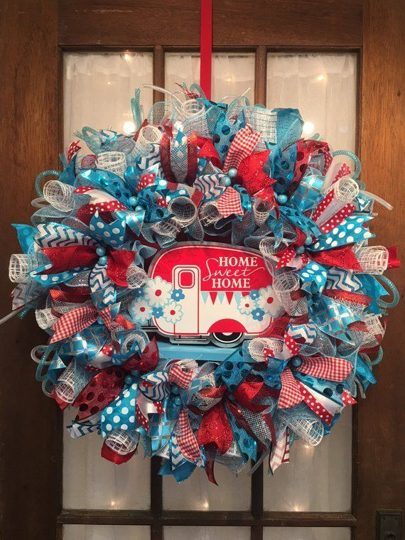 home sweet home camper wreath wreaths and crafts inspirations rh pinterest com