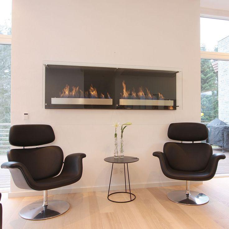 Luxurious Danish designed bioethanol fireplace.