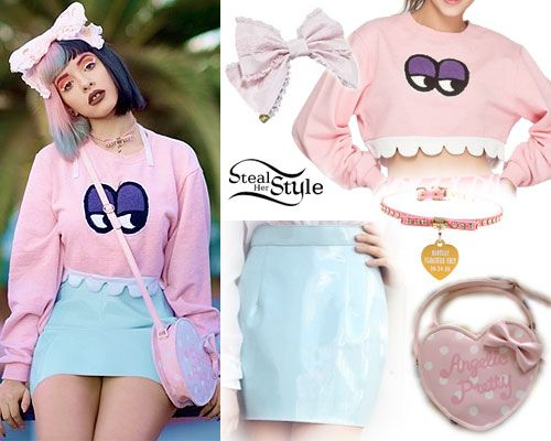 Melanie Martinez: Monster Sweatshirt Outfit