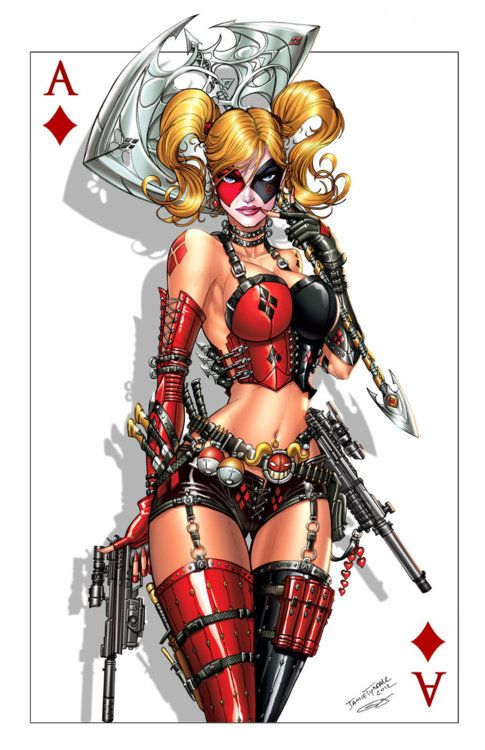 harley: Joker, Jamie Tyndall, Harleyquinn, Dc Comics, Art, Comic Book, Batman, Harley Quinn, Superhero