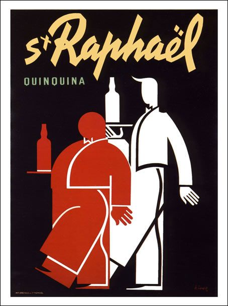 AP987 - St Raphael, Artist:Charles Loupot 1938 (30x40cm Art Print)