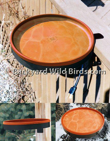 Deck Heated Bird Bath 3 Mounts