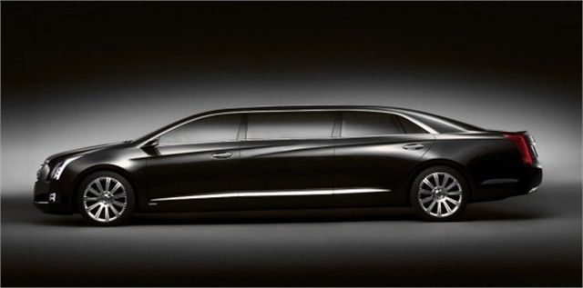 The #limousine model of the 2013 Cadillac XTS, called the XTS VRU, can be stretched up to 70 inches.
