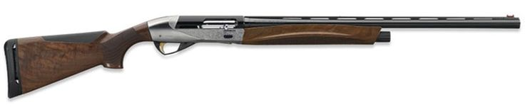 Meet the new Ethos from Benelli, the first, and only, semi-auto 28 gauge with a 3-inch chamber. Now, before you complain about the lack of 3-inch 28 gauge shells on the market, let me mention that Fiocchi plans to have boxes on the shelf by the time the shotgun is. I'm told that the 3-inch magnum shells have power comparable to the 20 gauge, but in a smaller, more nimble, still lighter recoiling package. Hello waterfowl. This little beauty weighs in at 5.3 pounds..