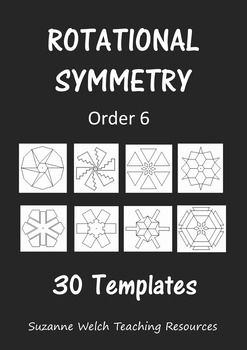 Rotational Symmetry Art Activity.This fun activity produces fantastic designs that your students will be super proud of.  Each template has rotational symmetry of order 6 and is on isometric dot paper.  Your students simply add more lines (ensuring each line is done 6 times to keep it symmetrical), using the dots to maintain accuracy.
