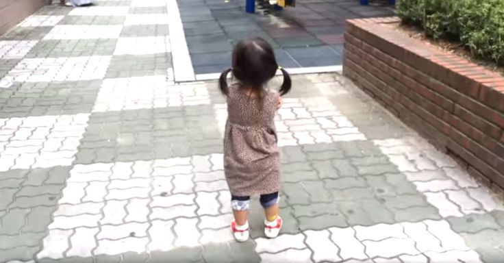 Grumpy Little Girl Can�t Stay Angry When She Walks Around In Her Squeaky Shoes via LittleThings.com