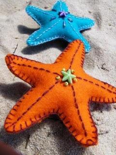Hinterland Mama: Wool Felt Summer Sea Creatures