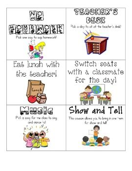 Best 25+ Classroom reward coupons ideas on Pinterest | Classroom ...