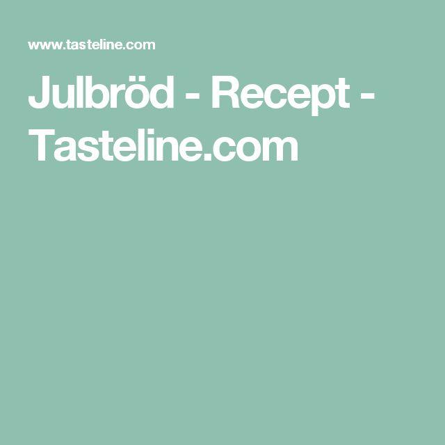 Julbröd - Recept - Tasteline.com