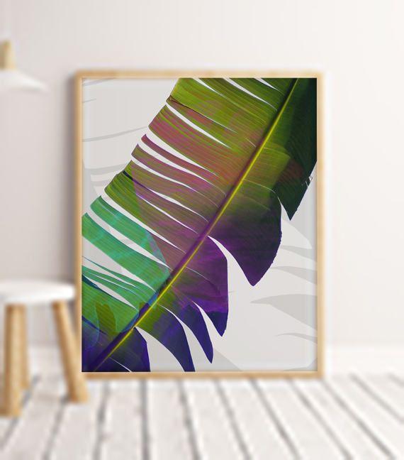 Leaf Digital Print Download Art Printable Palm Leaf by ENORASIS