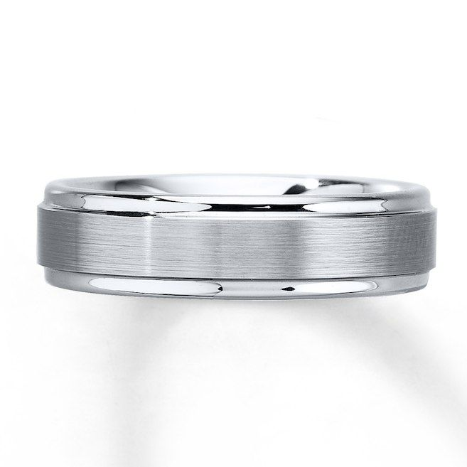Kay Wedding Band White Tungsten Carbide 6mm Mens Wedding Bands Tungsten Mens Wedding Bands Tungsten Carbide Mens Wedding Bands