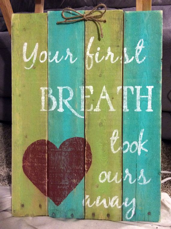 This hand-painted, wood sign comes with a message for your kid's room and…