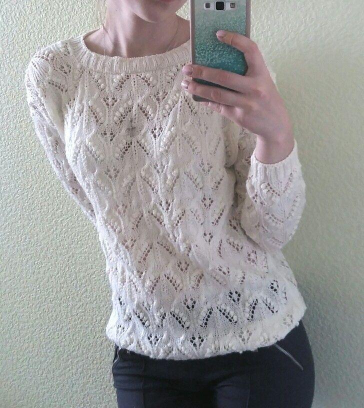 Летний вязаный джемпер с шишечками Knit sweater