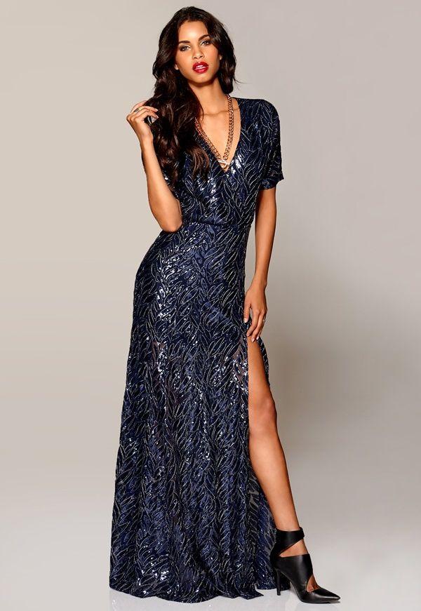 EUGENE MAXI DRESS fra Bubbleroom. Om denne nettbutikken: http://nettbutikknytt.no/bubbleroom-no/