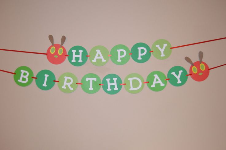 Very Hungry Caterpillar Birthday Banner - Hungry Caterpillar Birthday - Caterpillar Birthday by CardsandCanvas on Etsy https://www.etsy.com/listing/210918052/very-hungry-caterpillar-birthday-banner