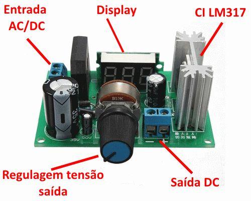 Tenha uma fonte ajustável para a sua bancada com o módulo regulador de tensão LM317