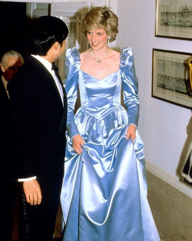 13 May 1986 Princess Diana With Crown Prince Naruhito At A Dinner Reception Hosted