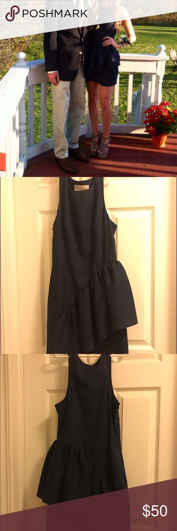 NWOT Keepsake The Label Navy Peplum Bodycon Dress color: navy / keepsake the label / size: xs / only worn once, a great homecoming dress Keepsake The Label Dresses Mini