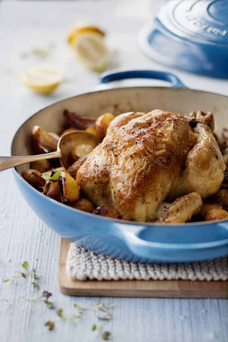 Lemon & Olive Chicken // Le Creuset Buffet Casserole