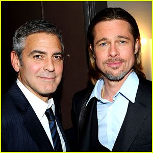 """Brad + Angelina were invited to George Clooney's wedding, but they were in Malta filming their upcoming movie, By the Sea. On George Clooney calling him """"unreachable"""": """"Well, you know, George is extremely accessible. He's one of our best representatives. He's funny as shit. He's a joy to be around. I guess maybe I'm more of a miserable bastard. [laughs]. I'm a bit of a loner you know? I'm more quiet by nature. And coming from, you know, hillbilly country, I'm probably more reserved."""""""
