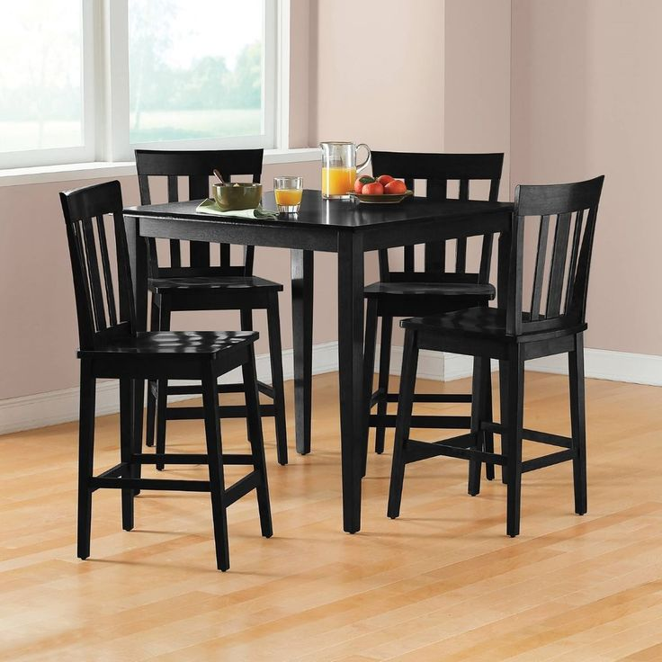 Pub Table Set Counter Height Dining Furniture 5 Piece Kitchen Chairs Black   Home & Garden, Furniture, Dining Sets   eBay!